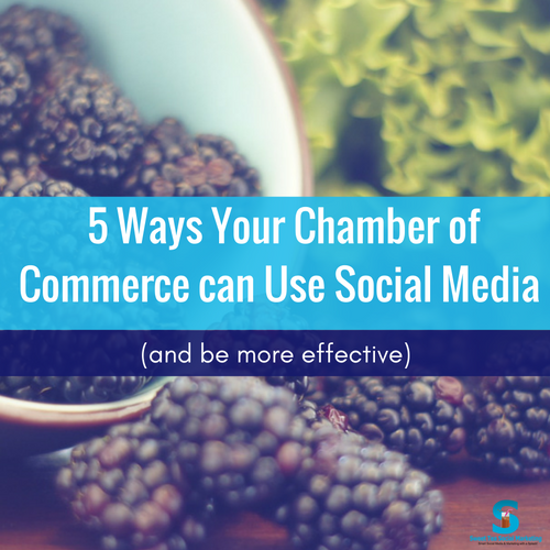 chambers of commerce use social media