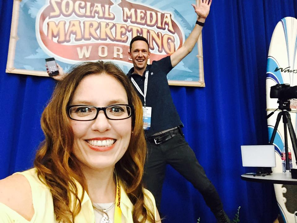 Social Media Marketing World 2017 with Justin Brown and Heather Heuman